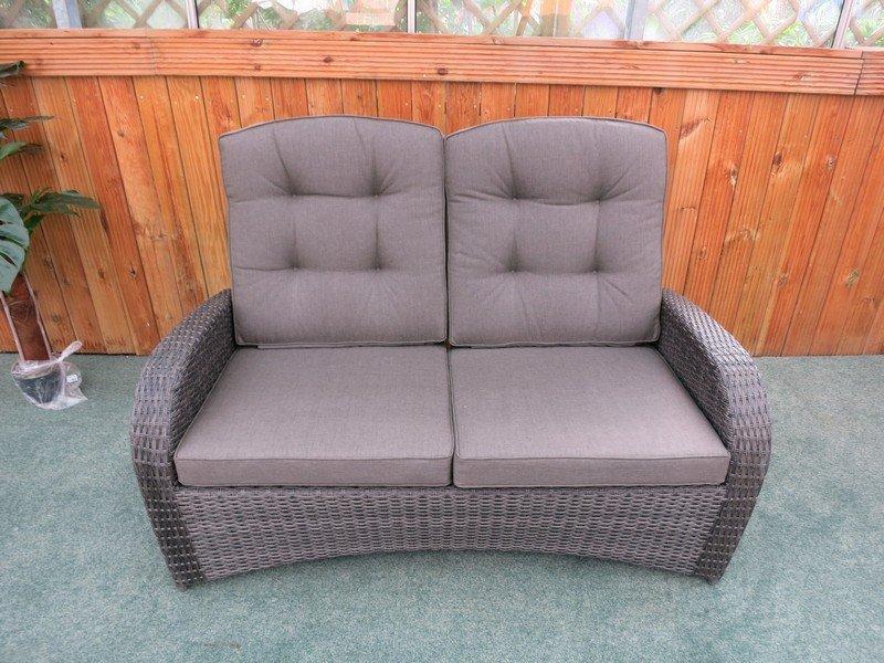 Reclining Rattan 4 Seater Sofa Set (Grey) - Sapcote Garden ...