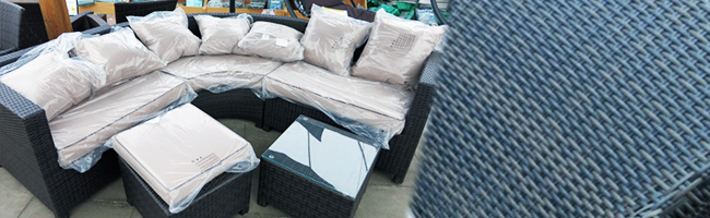 5 Seater Rattan Weave Corner Sofa