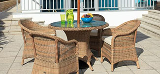 Cozy Bay 4 Seater Sicilia Rattan Dining Set
