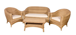 Cozy Bay Bahama Rattan Sofa Set