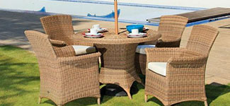 Cozy Bay Panama 4 Seater Rattan Dining Set