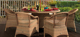 Cozy Bay Sicilia 6 Seater Rattan Dining Set