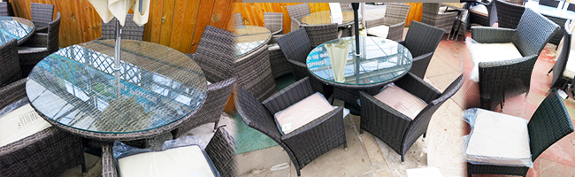 4 Seater Round Rattan Weave Wicker Dining Set