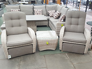 This 2 seater reclining bistro set