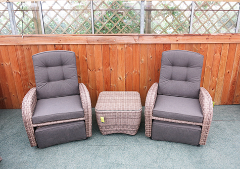 These reclining garden chairs are for sale