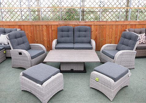 Surprising Reclining Garden Furniture Reclining Rattan Chairs Sets Uk Home Interior And Landscaping Synyenasavecom