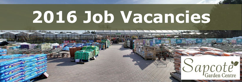 We Have New Garden Centre Jobs For This Year.