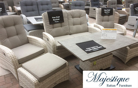 Majestique reclining rattan garden furniture on sale